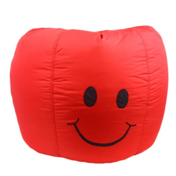 smiley bean bag red