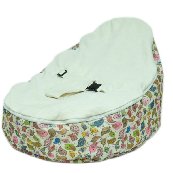 baby bean bag white
