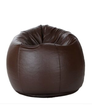 leather bean bag brown