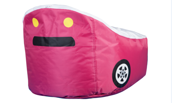 pink car bean bag